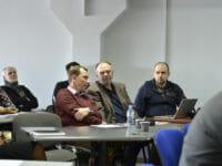 Алексей Туз (Парето-Принт), Павел Иванов (Моноритм), Евгений Стрельников (эксперт по внедрению методик Lead Production и TOC).