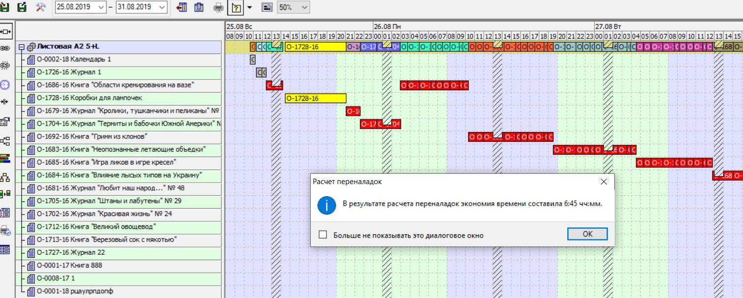 Оптимизация переналадок полиграфического оборудования в ASystem